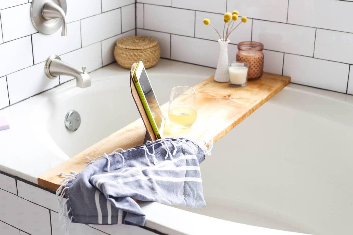 DIY Bathtub Tray