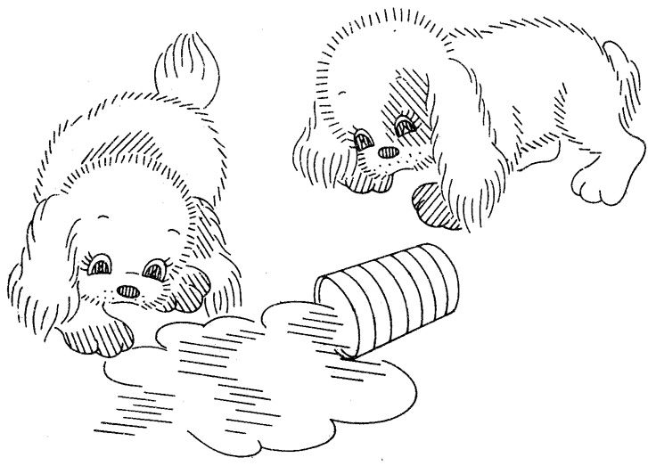Vintage dog pattern from Vintage Transfer Finds
