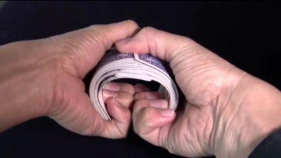The bridge step of shuffling cards