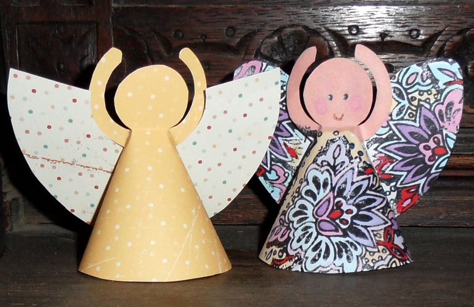 Paper angel decorations