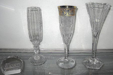 Various Stemware Glasses From Moser Left Maria Theresia 10620 Champagne Glass From 1913