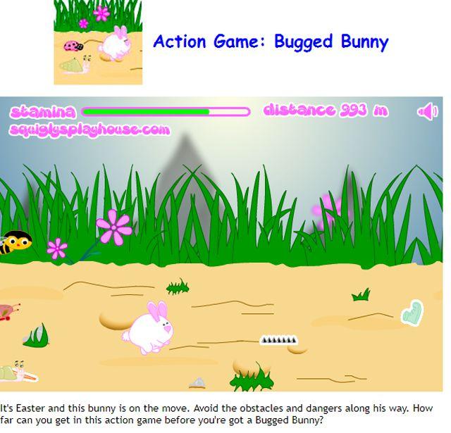 A rabbit racing down a path