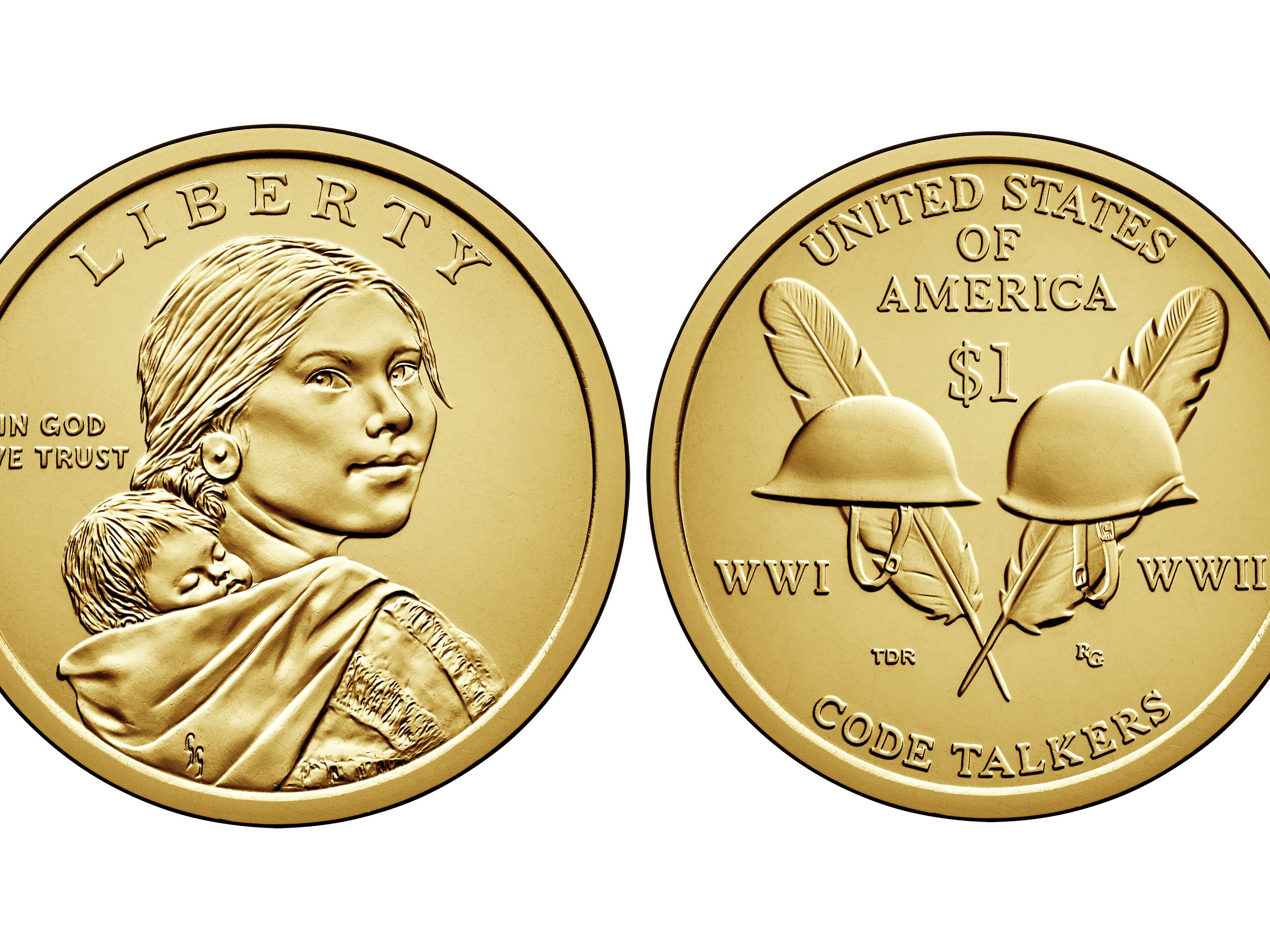 2008-P Sacagawea Native American Dollar Uncirculated BU Golden