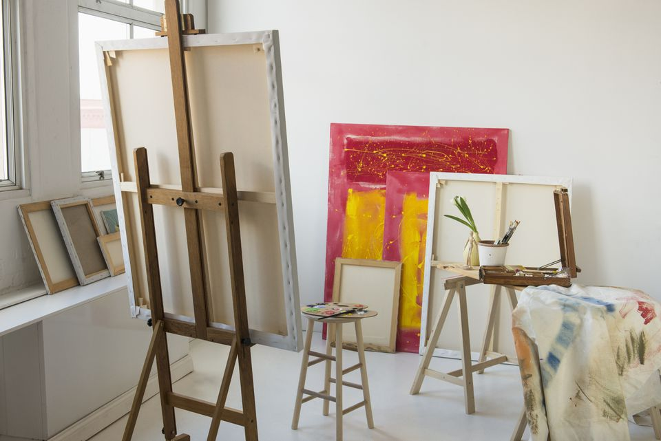 H-frame standing painting easel