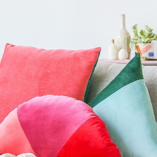 DIY Color Blocked Pillow