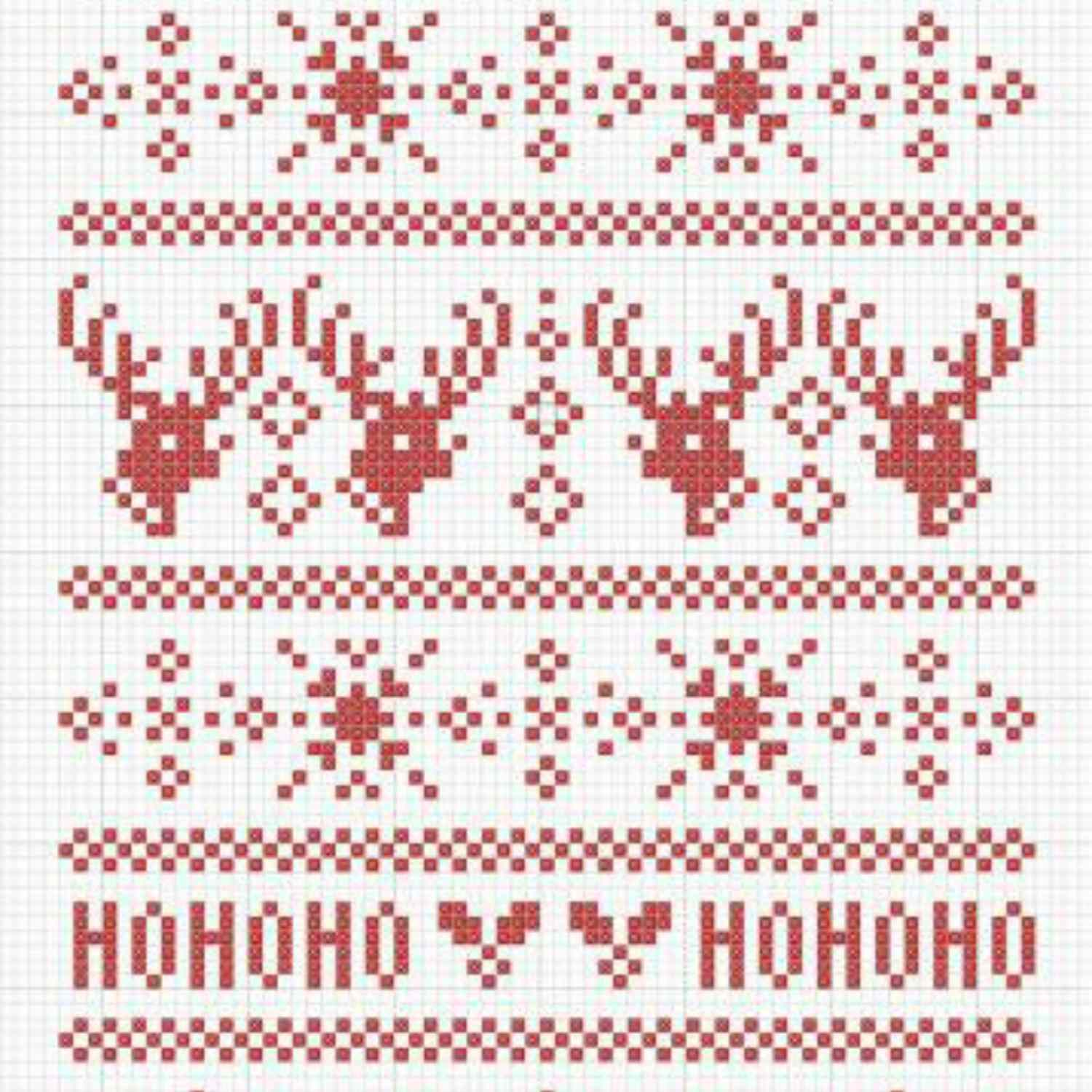 Fair Isle Inspired cross stitch pattern for everyone\'s style