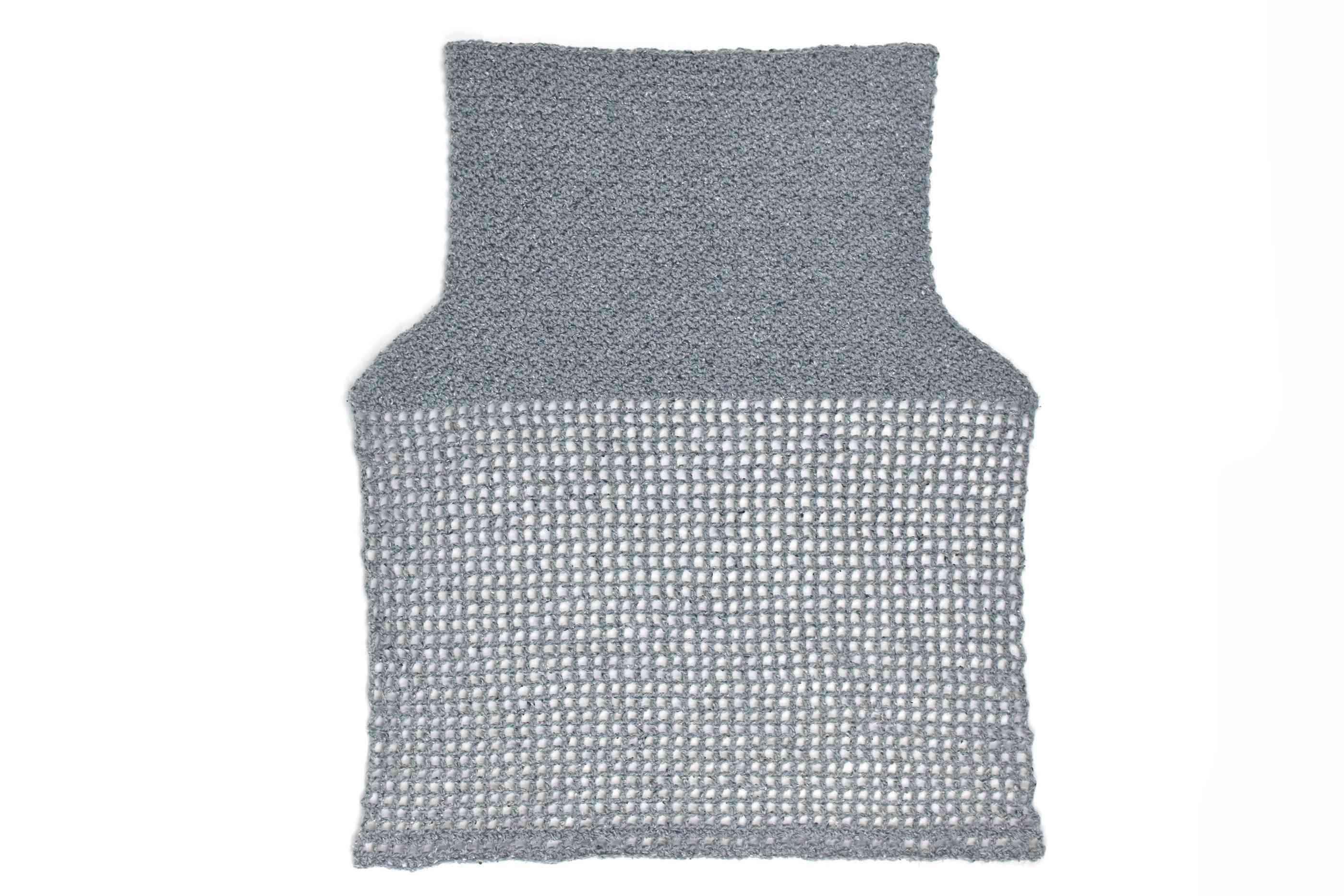 Back of Lemon Peel Crochet Tank Top