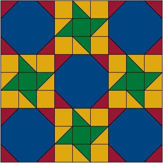 Friendship Star Quilt Blocks with Snowball Quilt Blocks