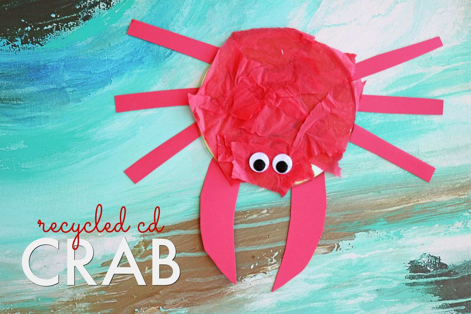 DIY: Recycled CD Crab