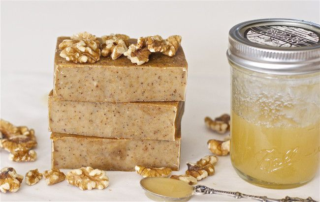 soap with nuts and honey