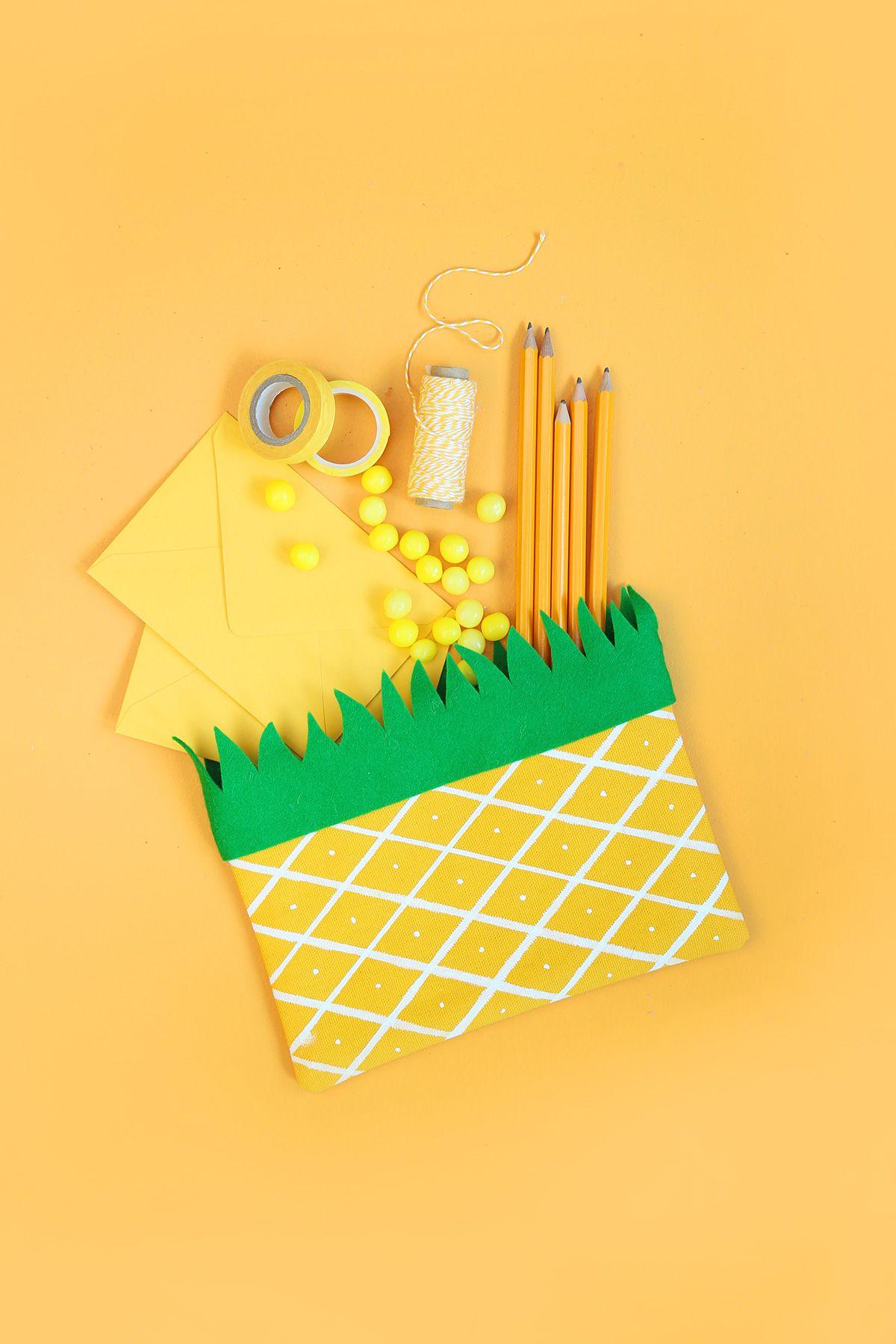 DIY Pineapple Pencil Case