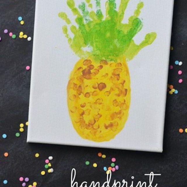 Handprint Pineapple