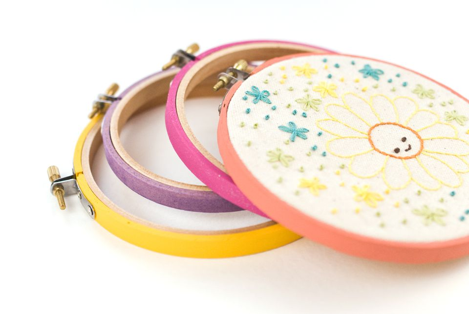Painting Embroidery Hoops