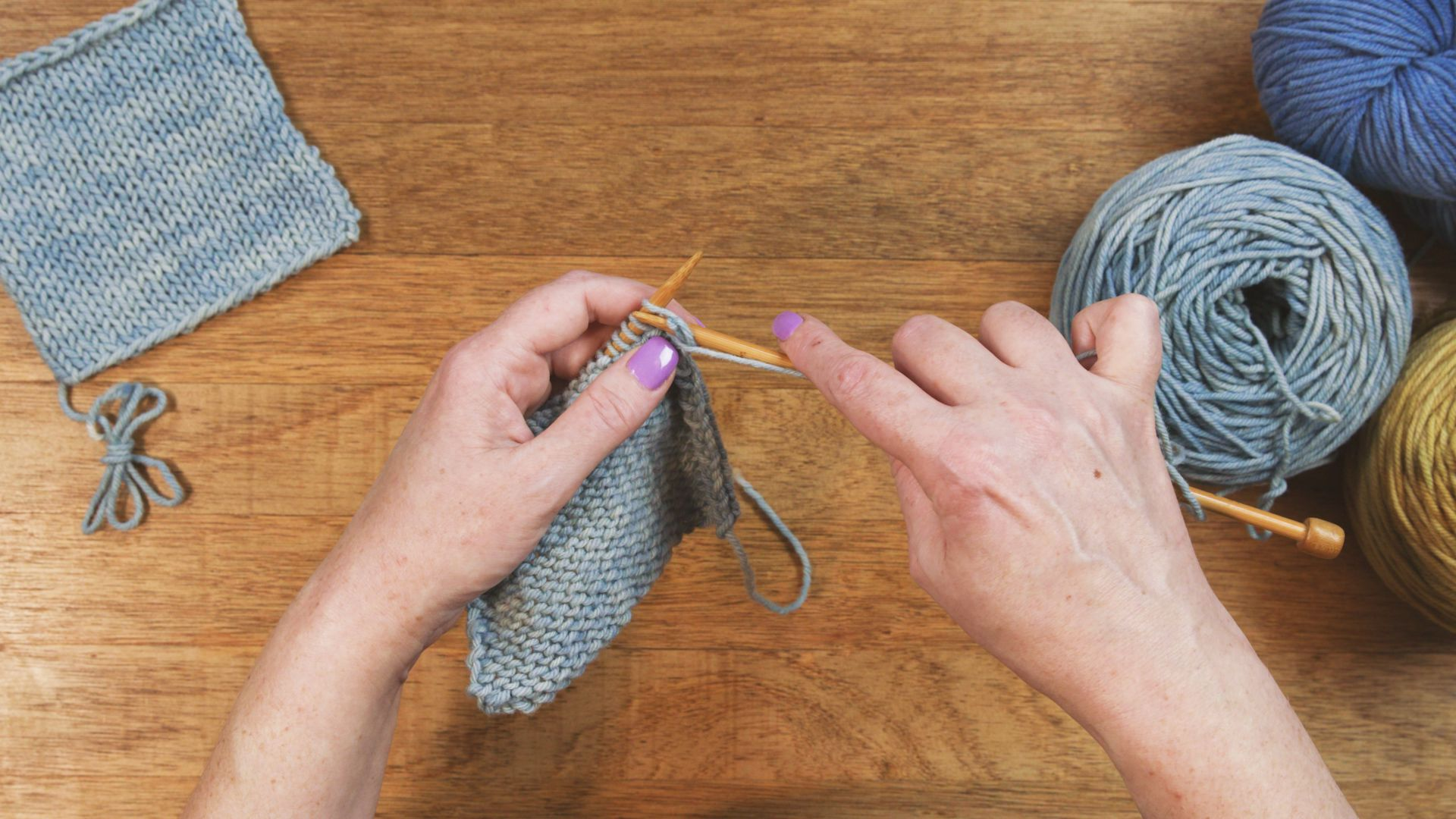 How To Purl In The English Style