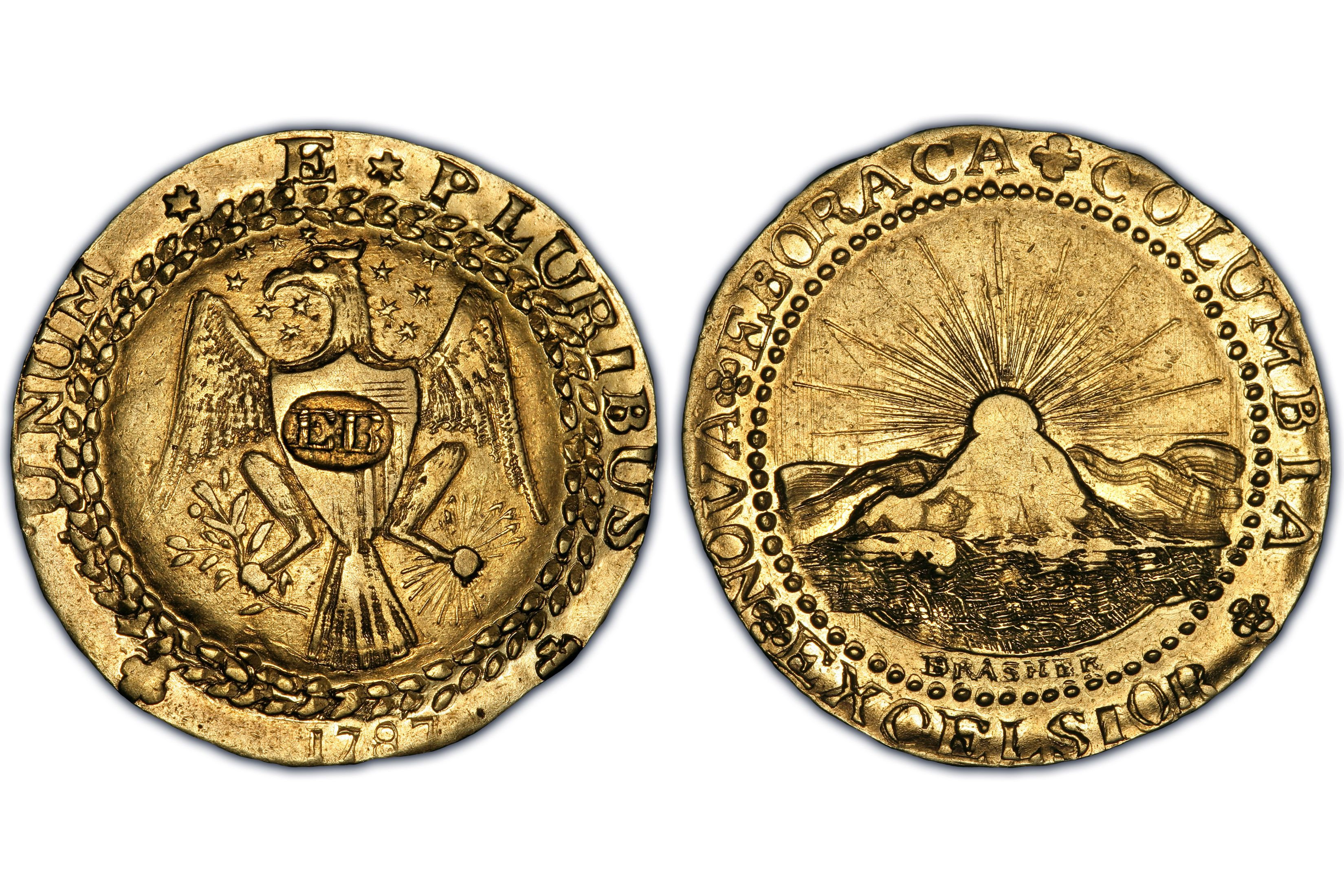 1787 Brasher Doubloon - EB on Breast