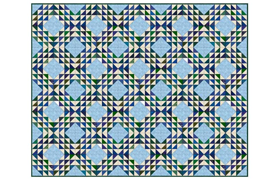 Ocean Waves Quilt Pattern