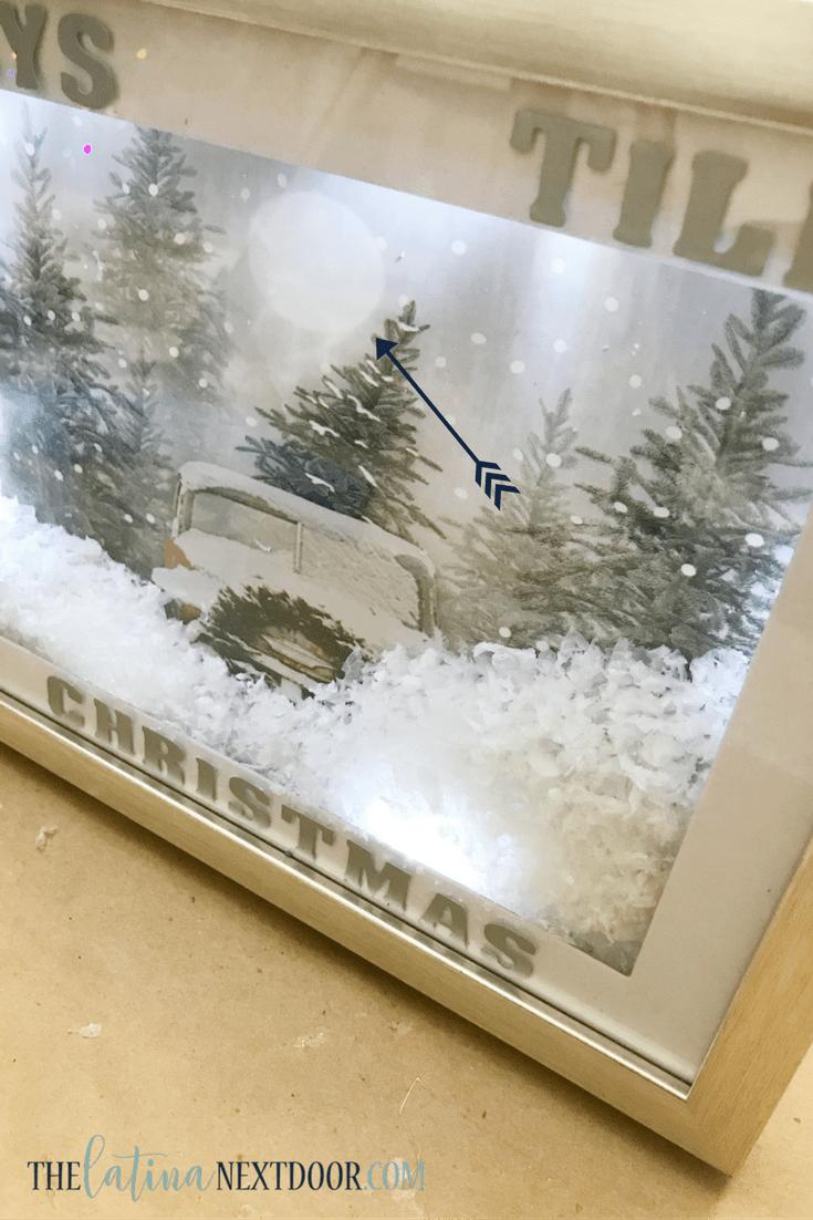 Light Up Holiday Shadow Box