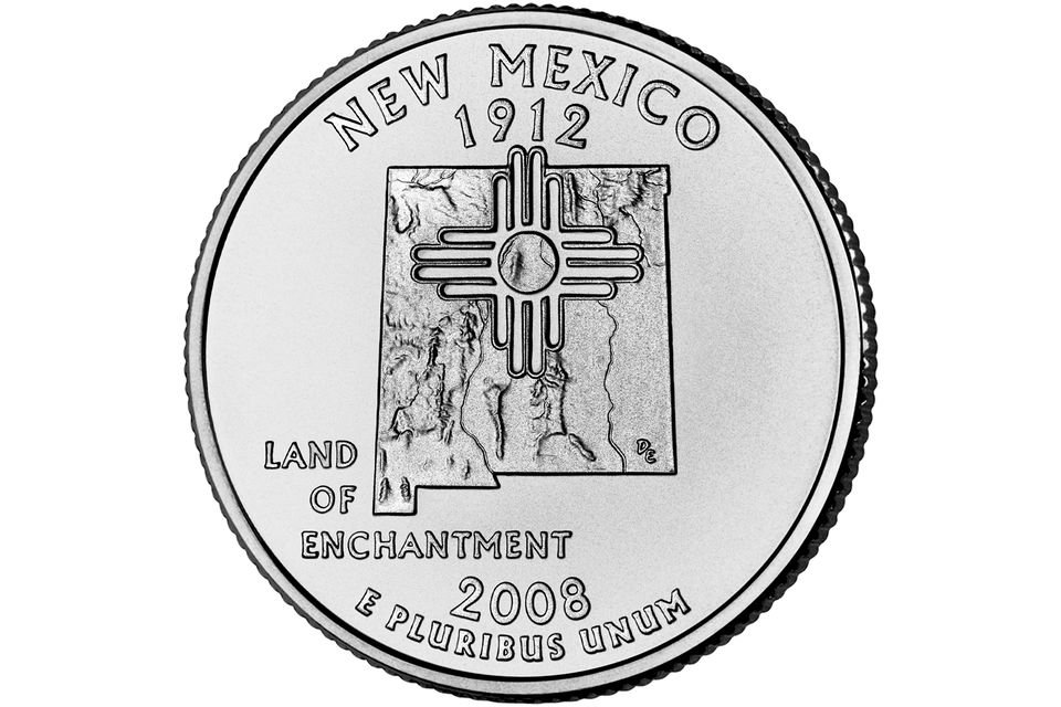 2008 New Mexico 50 State Quarter Obverse