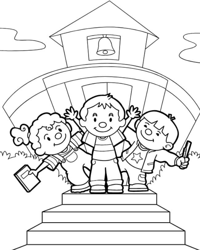 11 sources for free back to school coloring pages for School color pages
