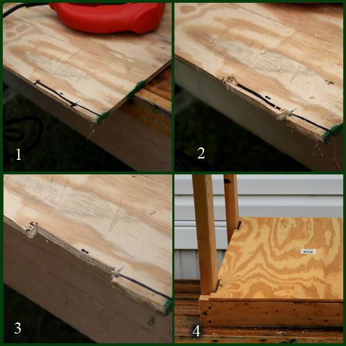 How to cut and place the floor of the wedging table.