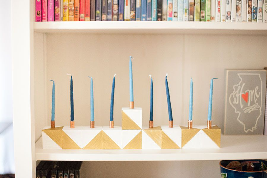 diy menorah tutorial