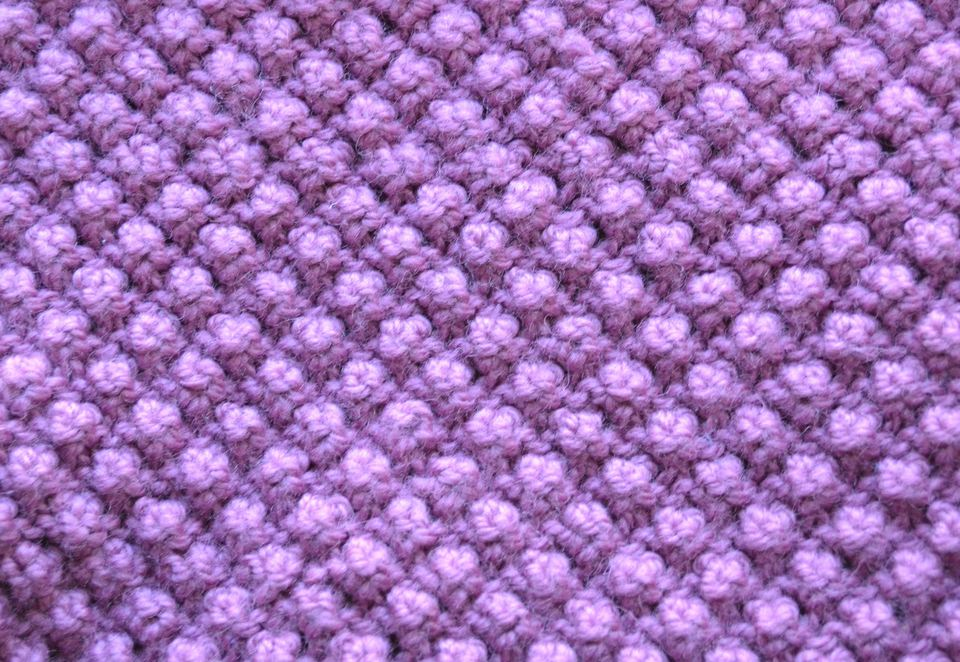 Close-up of a trinity stitch