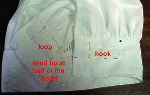 details of attaching the hook-and-loop tape