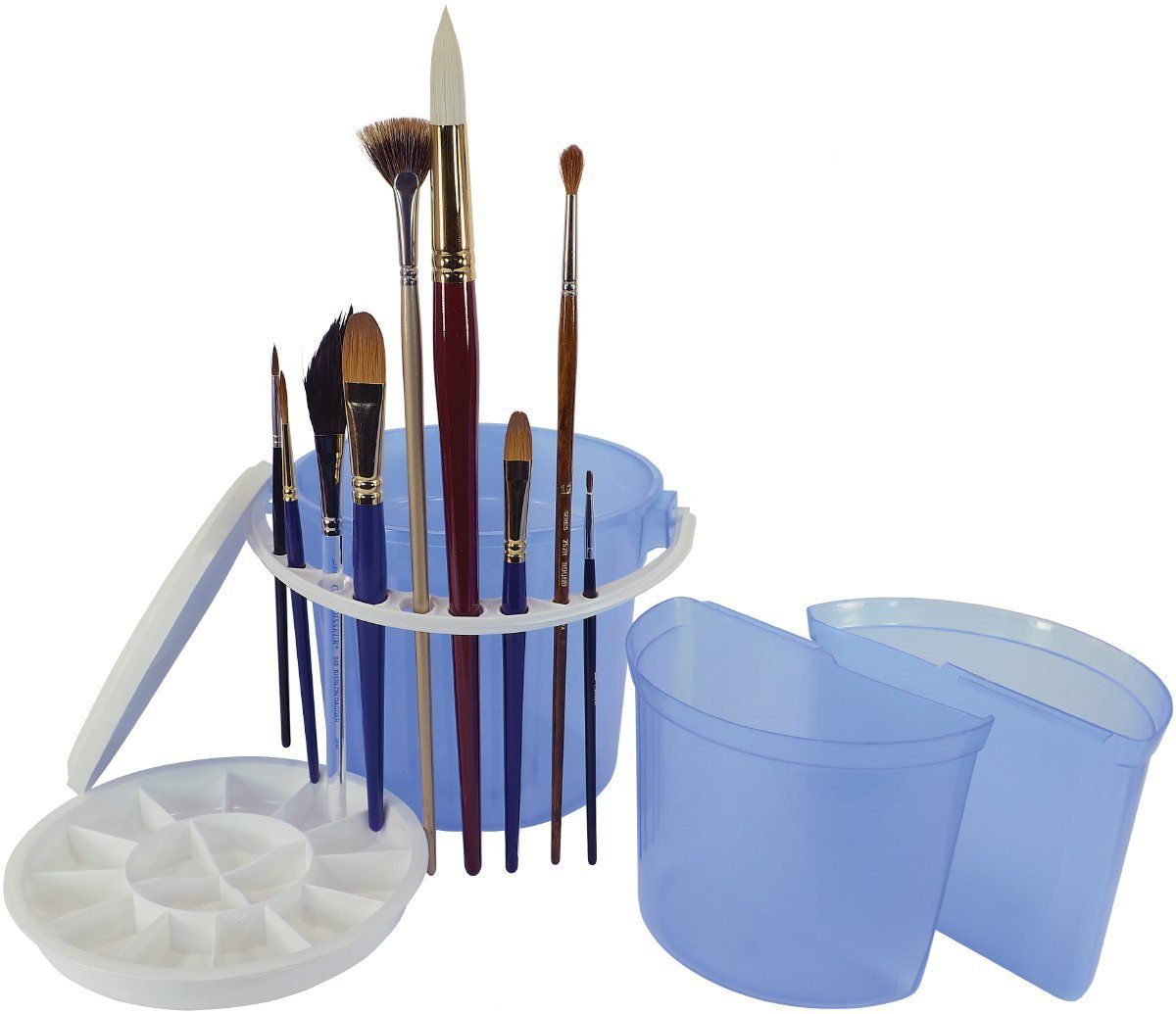 Art Advantage Brush Wash Bucket With Removable Inner Basins