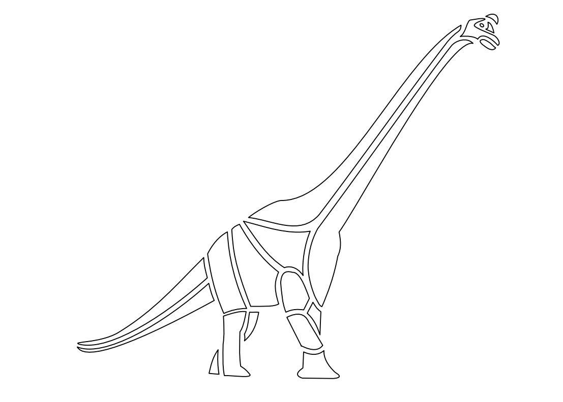 A stencil of a dinosaur