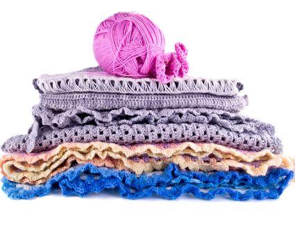 Crochet Stack and Yarn