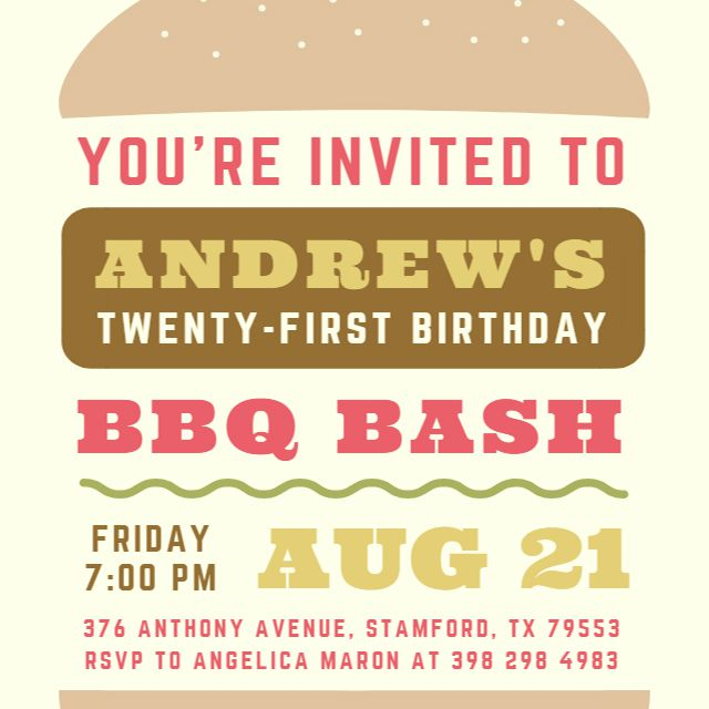 A Printable Birthday Invite For BBQ
