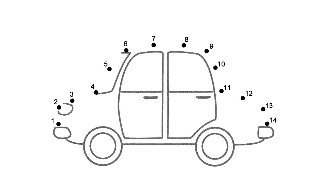 connect the dots worksheets ordered by difficulty an easy car connect the dots