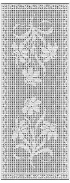Filet Crochet Table Runner Free Chart Pattern Mesmerizing Crochet Table Runner Patterns