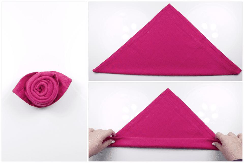 How to make a beautiful origami napkin rose how to make a rose napkin 02 mightylinksfo