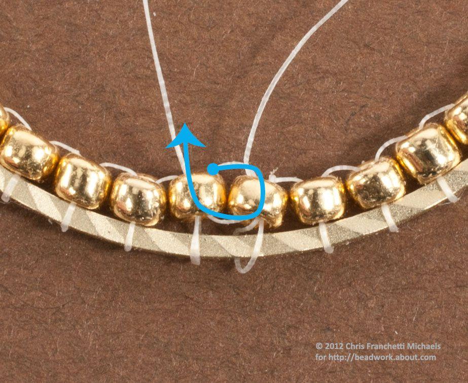 Brick Stitch Hoop Earrings