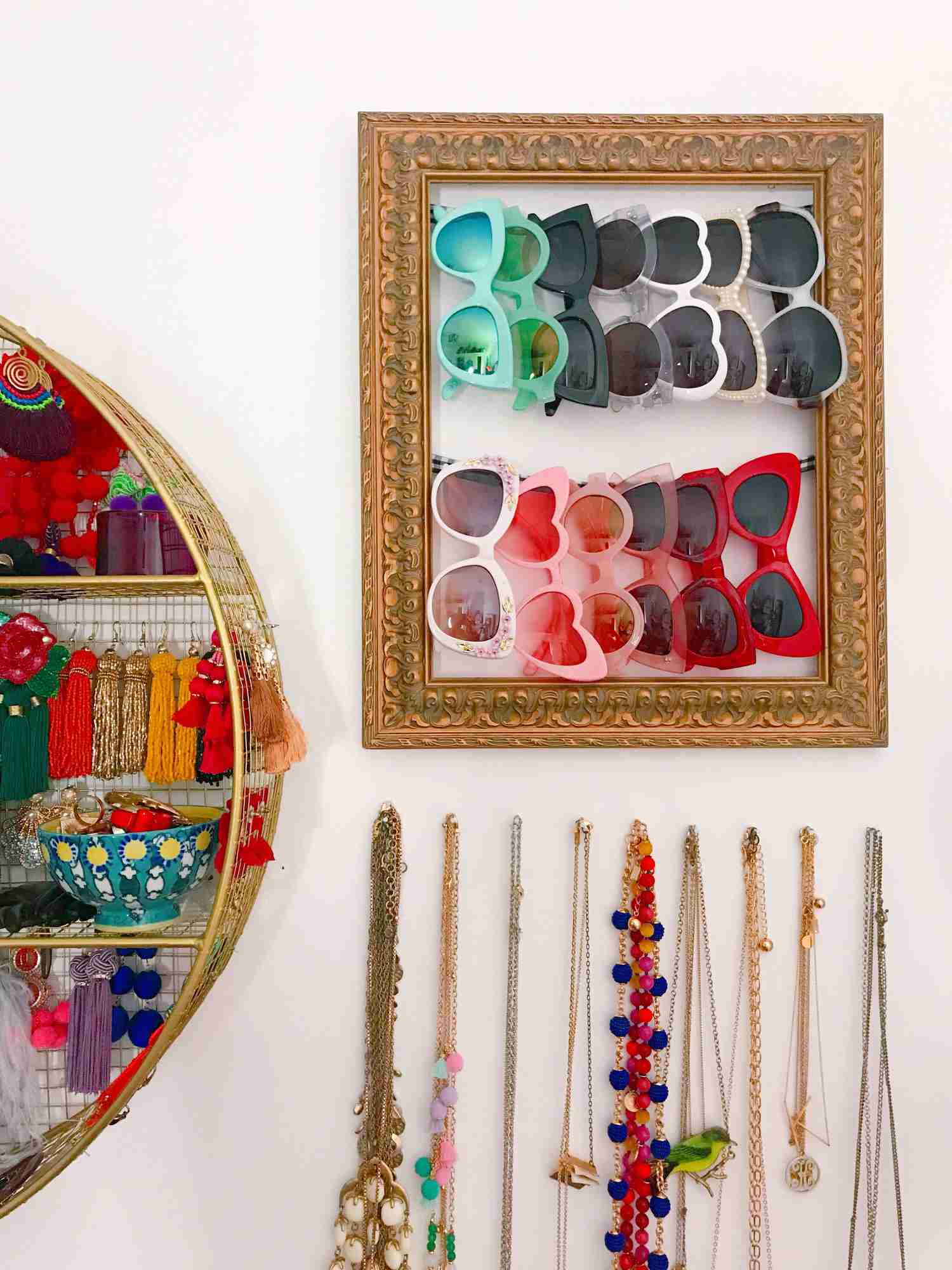 Diy sunglasses storage