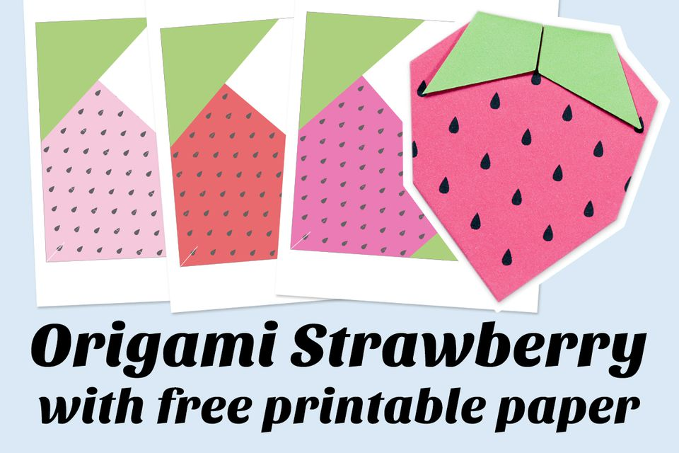 Origami Strawberry Instructions