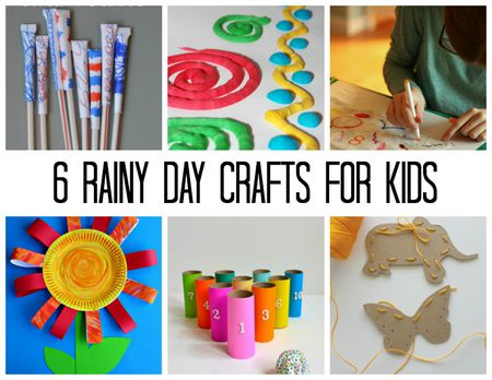 Rainy Day Crafts Kids Can Work On Indoors