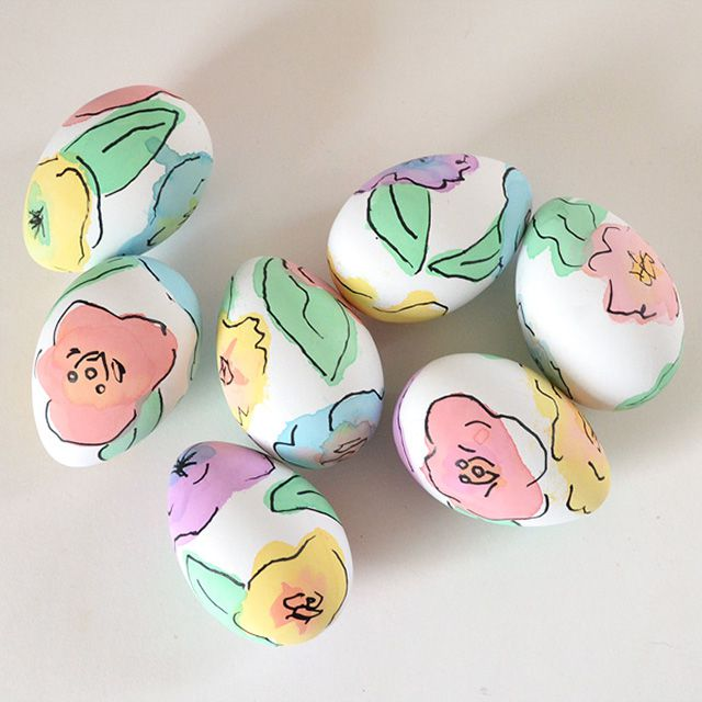 DIY Watercolor Floral Easter Eggs