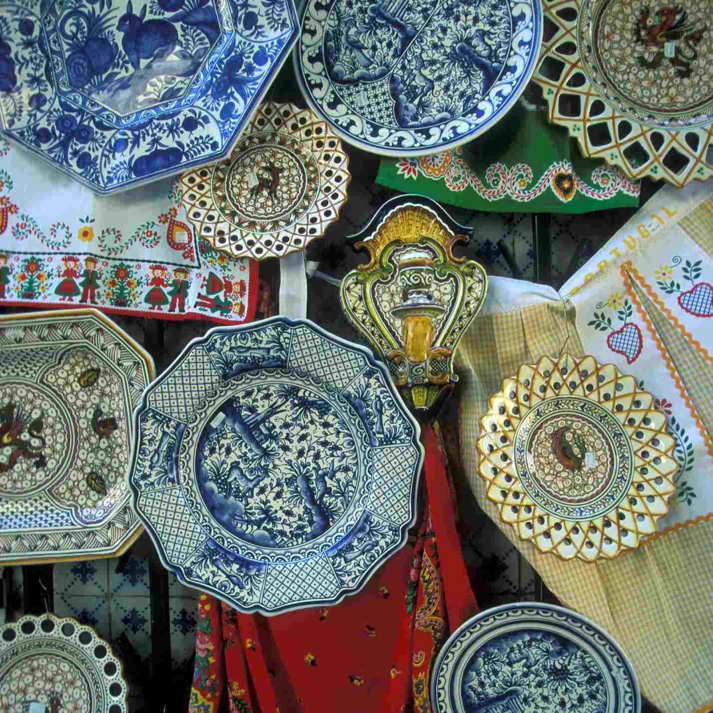 Antique transferware plates