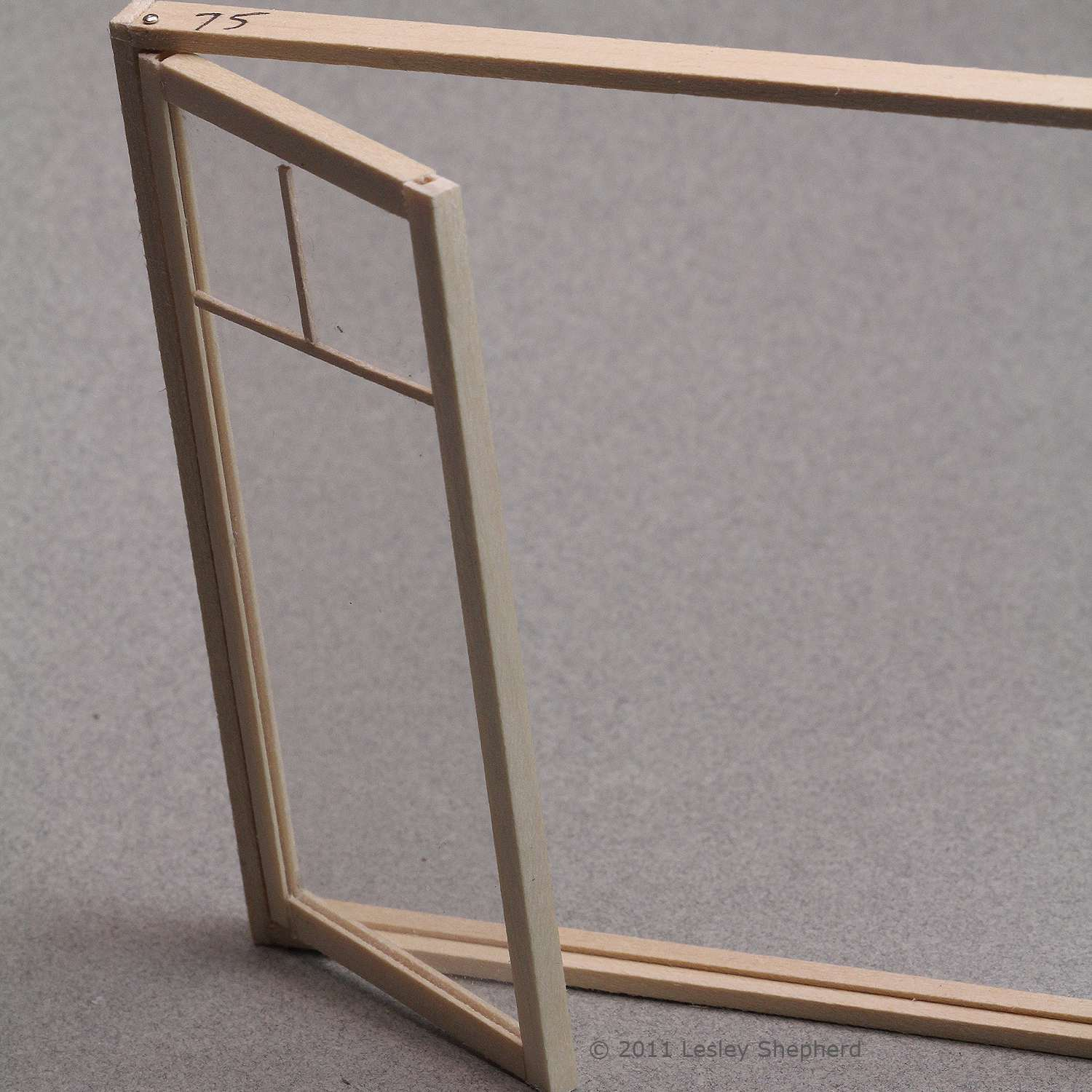 Opening casement window for a dolls house