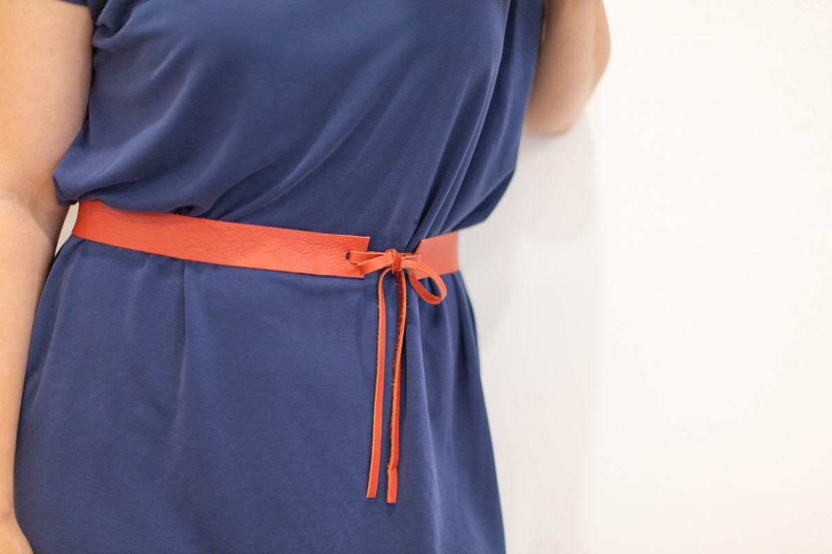 Belt around woman's waist