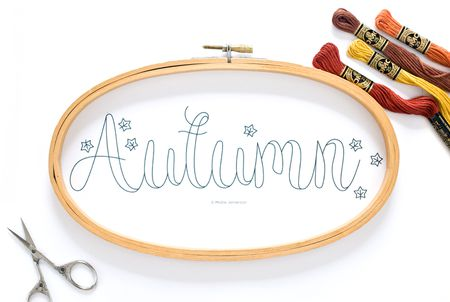 Free Autumn Hand Embroidery Pattern