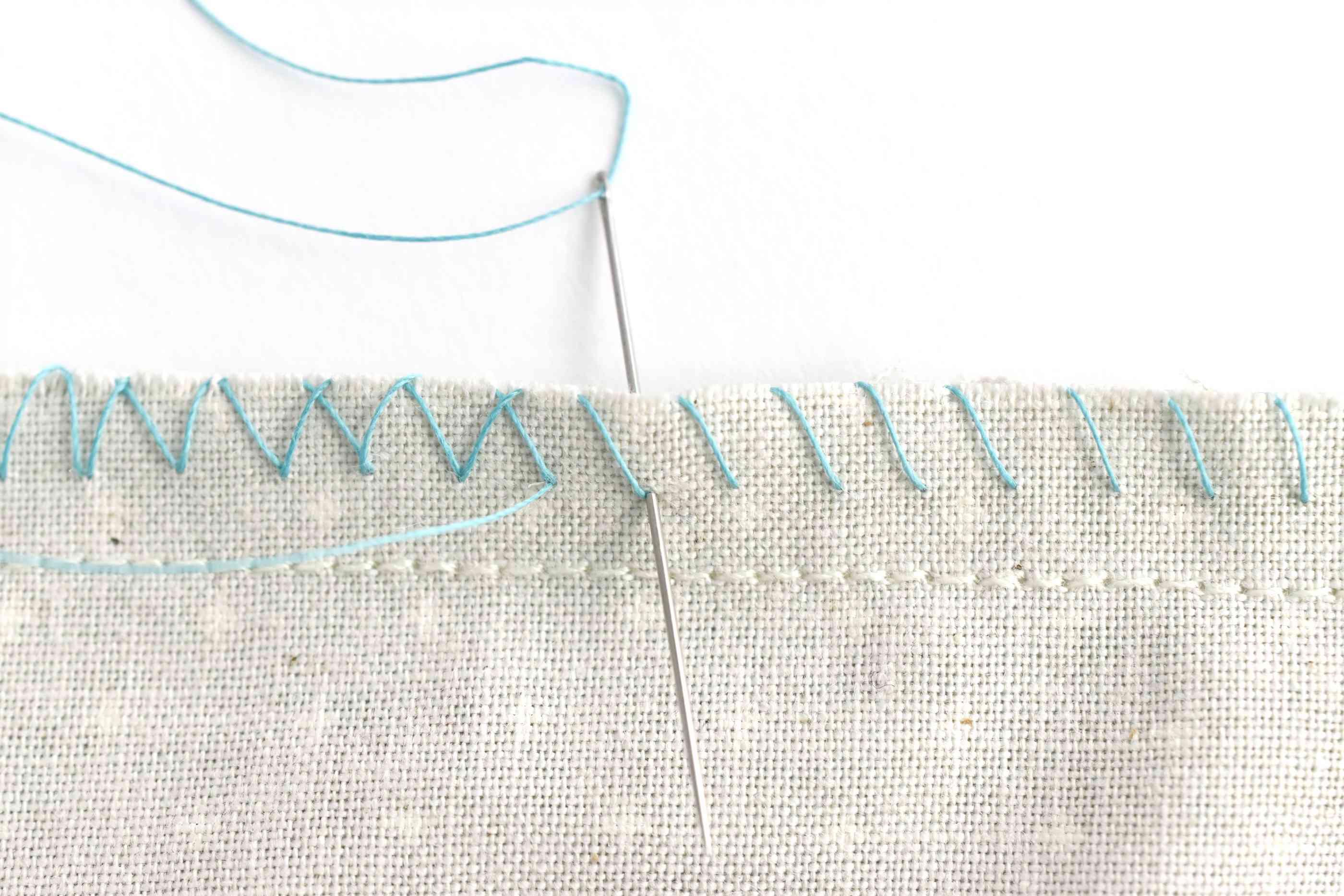 Hand-Sewn Zigzag Overcast Stitches