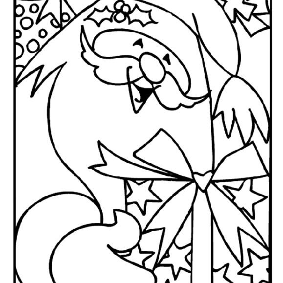 crayolas free christmas coloring pages santa with a gift