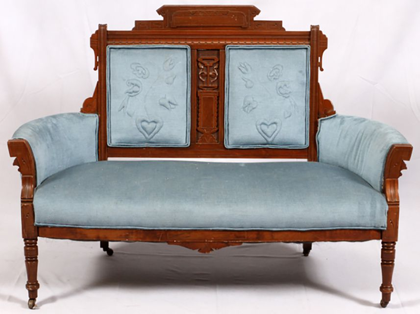 Eastlake Walnut Settee