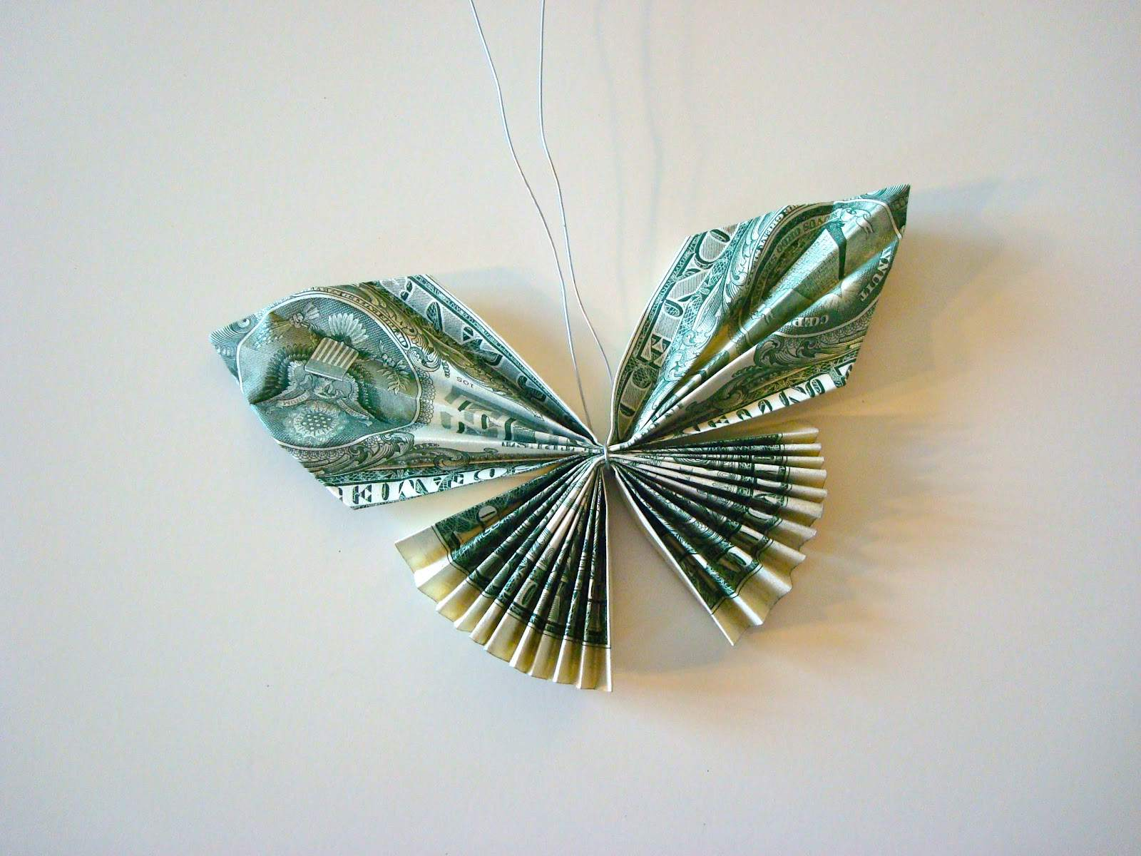How to Make Dollar Origami Butterfly Easy || Dollar Origami ... | 1200x1600