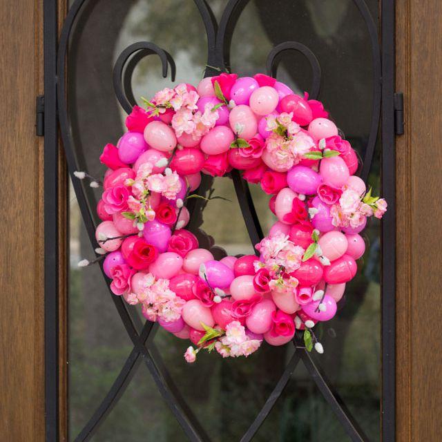 DIY Floral Easter Egg Wreath