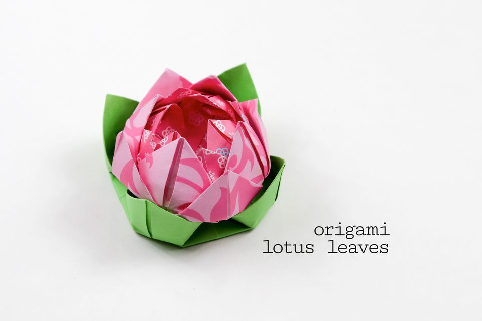 origami lotus leaf tutorial