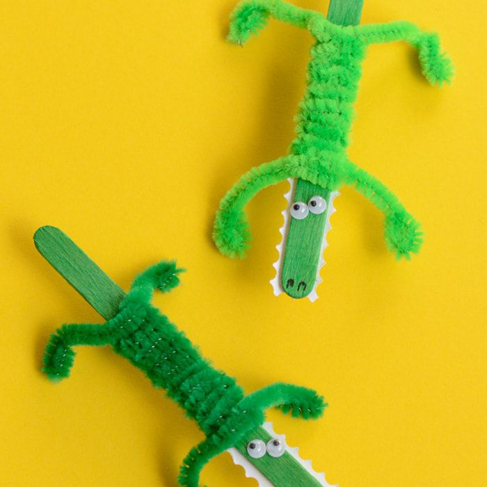 crocodile popsicle craft